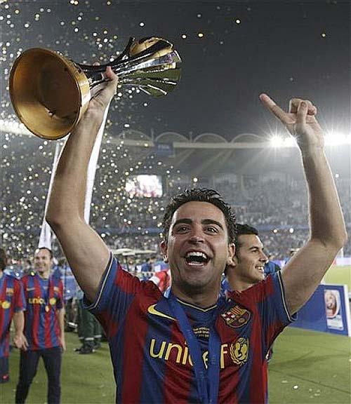 Xavi, jugador del FC Barcelona y ganador del trofeo de bronce del Campeonato - Foto: AP