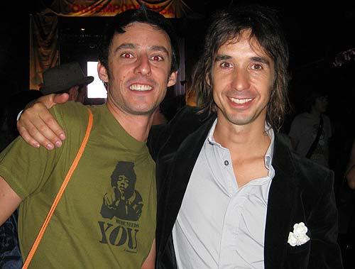 Eloi Corchea con Axel Pi, batería de Sidonie