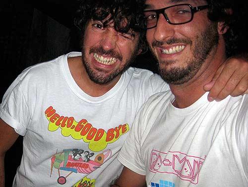 Carlos Cros y Rulramirez en el concierto de Sidonie en la sala Sidecar
