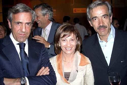 El empresario José Moro, la Ministra Elena Espinosa y el actor Imanol Arias