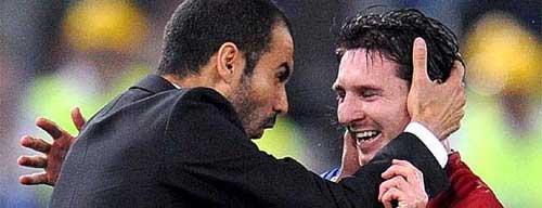 Foto: El País - Pep Guardiola y Lionel Messi, dos genios del F.C. Barcelona