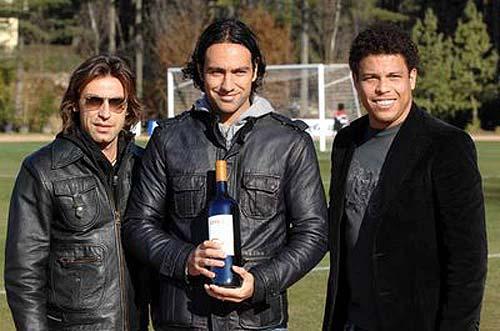 Pirlo, Nesta y Ronaldo, jugadores de fútbol y socios en el mundo del Vino