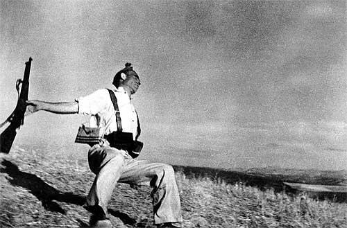 Muerte de un miliciano del fotógrafo Robert Capa