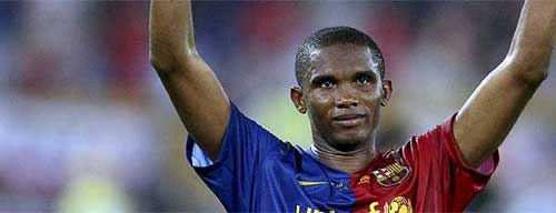Foto: El País - Samuel Eto´o, autor del primer gol de la final de la Champions