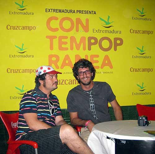 El Lobo Estepario y Rulramirez en el Backstage del Festival Contempopranea de Alburquerque