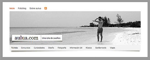 Portada del site www.aulua.com